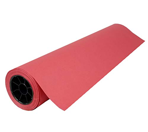 """Red Kraft Paper Roll   36"""" x 200' (2,400"""")   Best Colored Paper for Art & Crafts, Bulletin Boards, Gift Wrapping, Table Runner, and Decorations"""