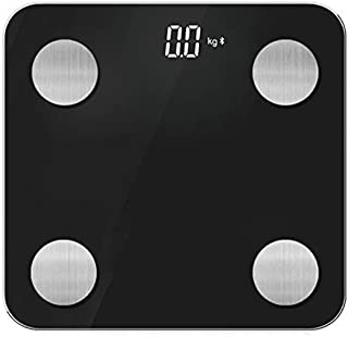 Báscula De Peso Bluetooth Smart Multifuncional Body Fat Scale Home Electronic Scale 312 * 300 * 25MM Negro