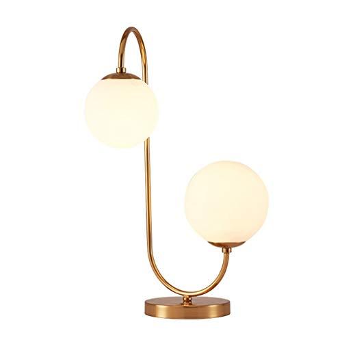 LED bureaulamp, glas slaapkamer bed studie eenvoudigweg Noordse woonkamer moderne tafellamp, goud