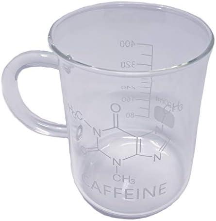 Universal Specialties 16 ounce Borosilicate Glass Caffeine Beaker Coffee Mug Great for Lab Home product image