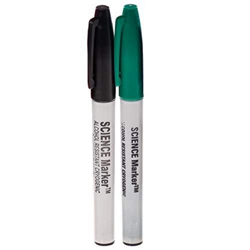 GA International SM-1B-6 Science-Marker Fine Tip Alcohol & Water-Resistant Cryogenic Marker, Black (Pack of 6)