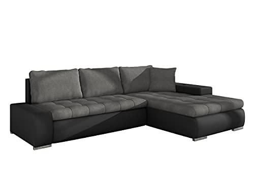 Elegante Sofa Orkan Mini mit Schlaffunktion und Bettfunktion, Eckcouch Ecksofa mit Bettkasten, Couch L-Sofa Große Farbauswahl, Beste Qualität (Soft 011 +...