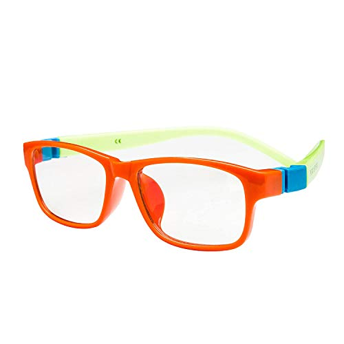 PROSPEK Blue Light Blocking Glasses Kids - Computer Glasses Action (Orange)