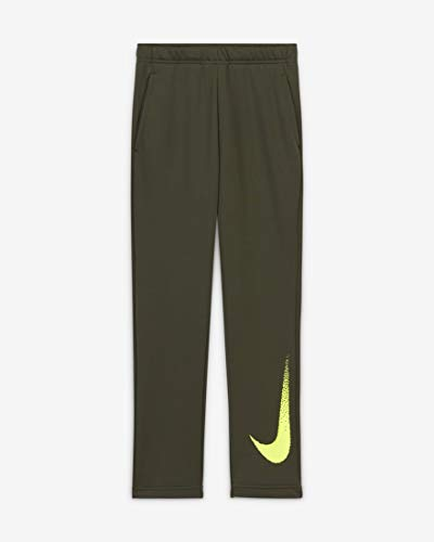 NIKE Pantalones de chándal Unisex para niños Dry FLC GFX 3, Unisex niños, CZ3948, Color Caqui/voltios, Extra-Large