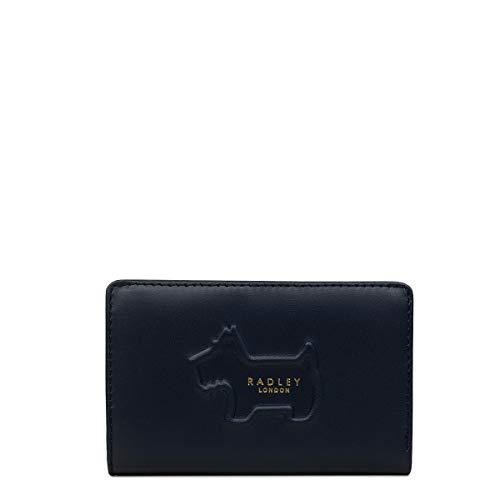 Radley London Radley Shadow Damen Geldbörse, mittelgroß, doppelt faltbar, ink (Blau) - 10477