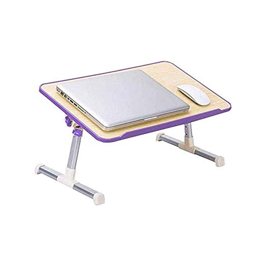 Kaidanwang Housewares Folding Table Simple and Convenient Folding Small Table, Notebook Stand, Bedroom Bed, Dormitory Study Desk, Cooling Computer Table, Lazy Table