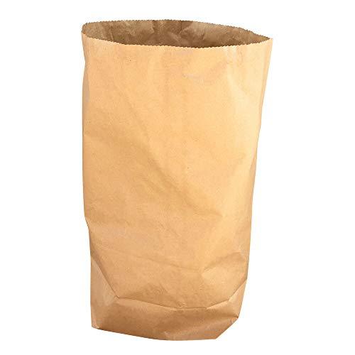 1-PACK Papier Bio Müllsäcke 30 L, 45 x 60 + 20 cm, 2-lagig - stark, braun, 25 Stück