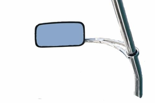 Wakeboard Tower Mirror Arm, Polished Aluminum Adjustable Mirror Mount, Attaches to Boat Tower Not Windshield, Fits Round Tubing Towers, Clamp Sizes 1 3/4-2.5 inch