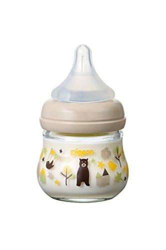 ピジョン 母乳実感 耐熱ガラス製 80ml 哺乳びん my Precious クマ 0ヶ月から おっぱい育