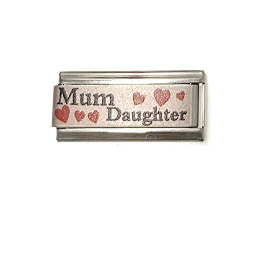 Colorev Mum & Daughter Italian Charm Fits all 9mm Italian Style Charm Bracelets