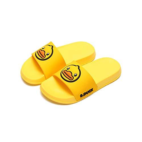 Zapatillas caseras de las señoras de la historieta, zapatillas de padre-niño, sandalias lindas, color Amarillo, talla 39 2/3 EU