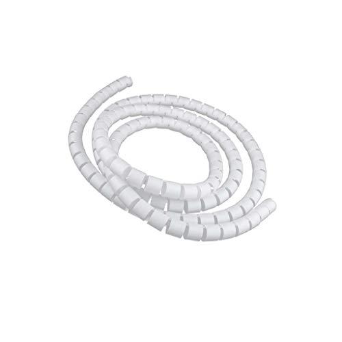 Sharplace 2m Kabelspirale Spiralband Kabelschlauch Kabelschutz - Weiß-10mm