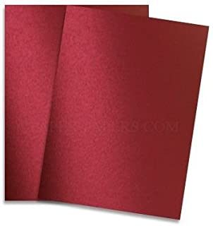 Shimmer Red Satin 8-1/2-x-11 Cardstock Paper 25-pk - 249 GSM (92lb Cover) PaperPapers Letter size Card Stock Paper - Business, Card Making, Designers, Professional and DIY Projects