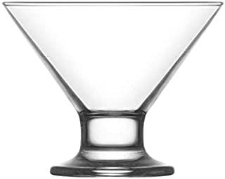 Vikko Clear Glass Footed Ice Cream Dessert Bowls | For Ices, Pudding, Fruit, and More – 5.5 Ounce Dessert Cups – Set Of 6 Thick Glass Serving Dishes