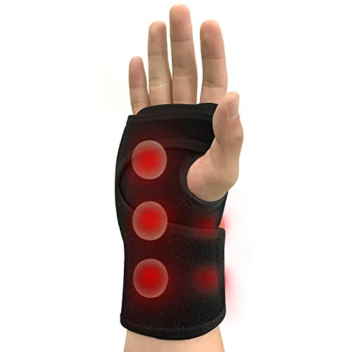 UTK Jade Infrared Wrist Heating Pad Wrap, Wrist Brace for Carpal Tunnel Relieves Sprains and Sore Muscles, Wrist Support Brace Pain Relief, Tendonitis-Right Hand