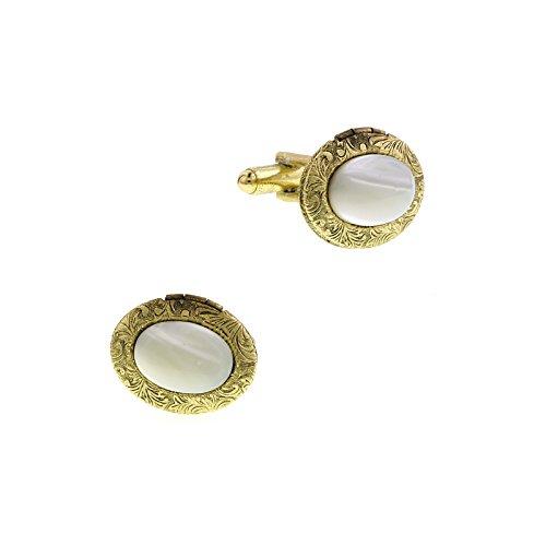 1928 Jewelry - Boutons de Manchette - Métal - Nacre - 65540