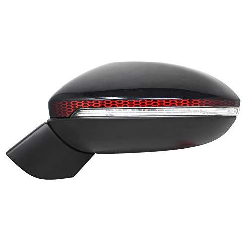 Spiegelstreifen Spiegel Aufkleber Folie Streifen Dekor Außenspiegel Auto Rückspiegel (Karminrot, Farbverlauf Waben (DS010))