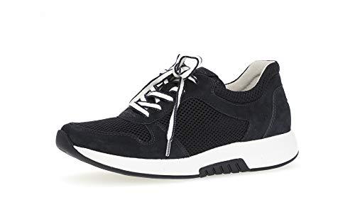 Gabor 26.946 Damen Sneaker,Low-Top Sneaker, Frauen,Halbschuh,Sportschuh,Schnürschuh,atmungsaktiv,Optifit- Wechselfußbett,Nightblue,6 UK