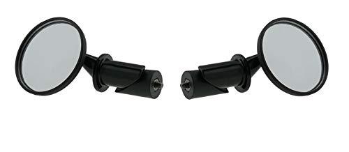 P4B Mini 1.0' Fahrradspiegel Inside Schwarz (1 Set = 2 Spiegel)
