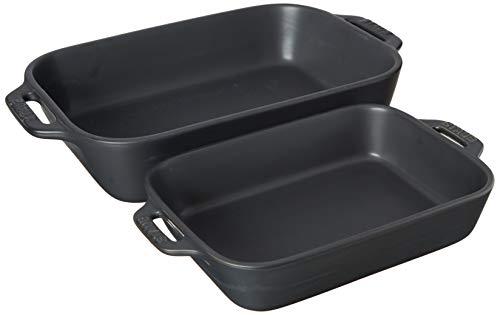 STAUB Baking Dish Set, Matte Black