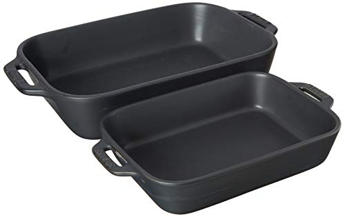 STAUB Baking Dish Set, Matte Black