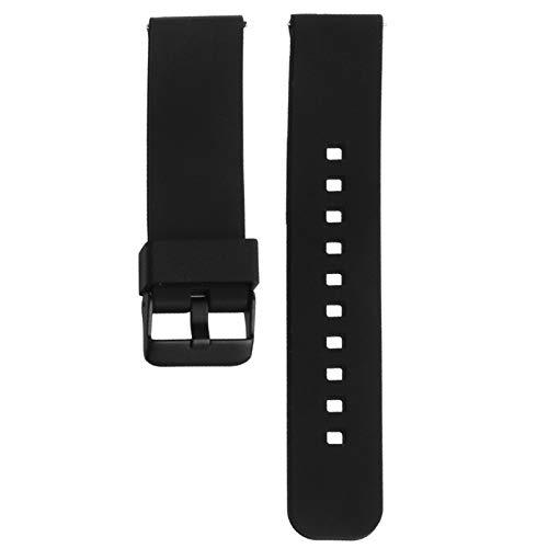 DFKai1run Correa de Silicona, 22mm Siliconen Horloge Banda Horlogeband Riem Voor 360 Segunda Inteligente del Reloj Selección Multicolor (Bandkleur : Zwart)