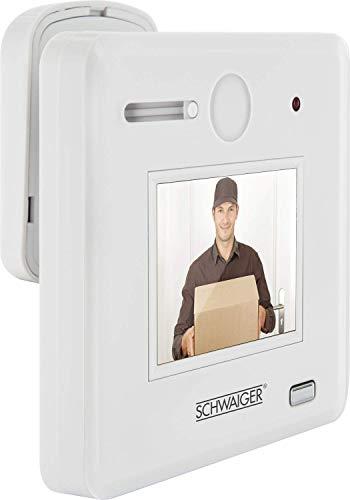 """Schwaiger GmbH 532 TS100532 Schwaiger TS100 digitaler und optischer Türspion (2,4\"""" HD Display, batteriebetrieben, 170° Sichtwinkel) für Türstärken von 30-65 mm, Weiß"""