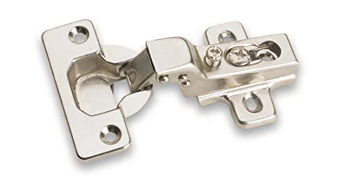 Laurey 10200 Concealed Cabinet Hinges, Standard, Zinc Plated, 10 Piece