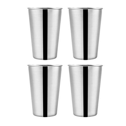 UPKOCH 4Pcs Vasos de Acero Inoxidable Vasos de Cerveza Vasos de Chupito Vasos de Cerveza Vasos de Cerveza Tazas Vaso para Beber 230 Ml