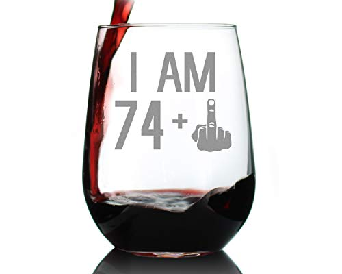 74 + 1 Middle Finger Wine Glass