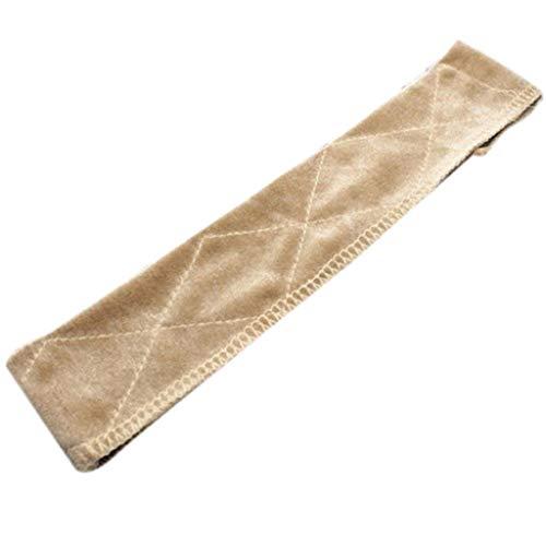 ZOOMY Damen Samt Perücke Griffband Rhombus einfarbig Verstellbarer Verschluss Kopfwickel - Beige