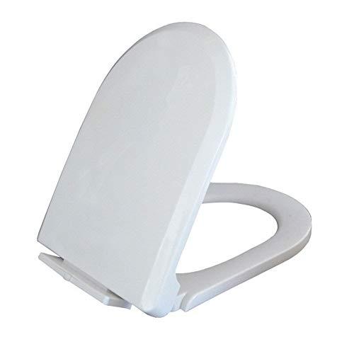 WWY Tipo T reemplazo de Cierre Lento de Asiento de Inodoro Tapa Asientos Conjunto Blanco Hogar antibacteriana de liberación rápida Cuarto de baño WC Cubierta de la Placa (Toilet Seat Shape : U Type)
