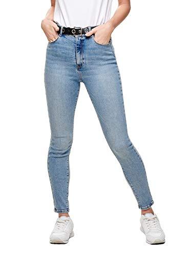 ONLY Damen Onlmila Hw Sk Ank Bj13502-1 Noos Jeans, Blau (Light Blue Denim Light Blue Denim), 28W 30L EU