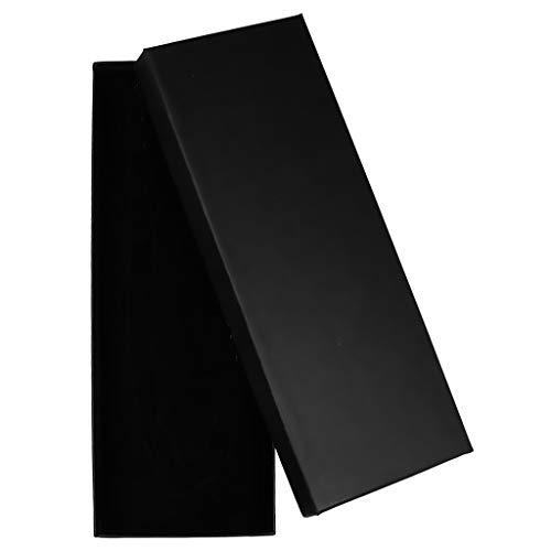 Autiga Geschenkschachtel Schmuckschachtel Geschenkbox Ring Schmucketuis Karton schwarz 220 x 80 x 27 mm 1er Pack