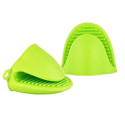 MUXItrade Silicone Résistant à la Chaleur Gants et maniques, Four de Cuisson Cuisine Mini Gant de Toilette Lot de 2 Pcs / 1 Set