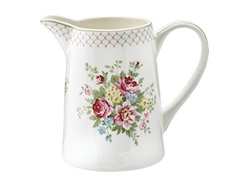 GreenGate Krug Aurelia white 1L Rosen Blumen Porzellan Vase Vintage