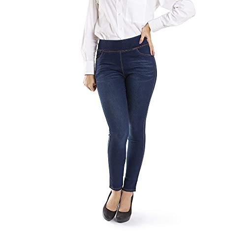 Trendcool Pantaloni Donna Vita Alta. Legins da Donna. Jeans Skinny Push Up. Pantaloni Strappati, Elasticizzati, Regular, Invernali. Urban Pantaloni (W2, S)