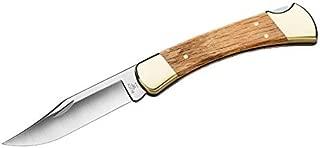 Buck Knives 110 Folding Hunter Knife W/Sheath, 3.75-Inch 5160 Carbon Steel Blade