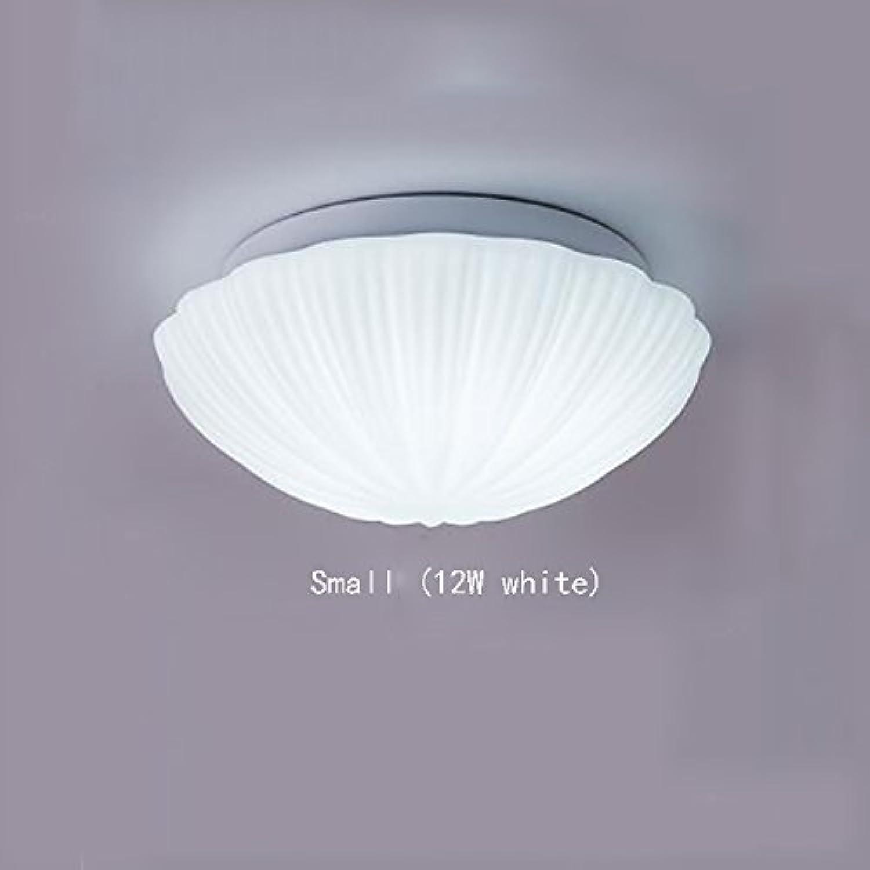 Global- Moderne einfache Eingang Küche Balkon Bad Badezimmer LED Runde Kinderzimmer Glas Deckenleuchte (Farbe   Small (12W Weiß))
