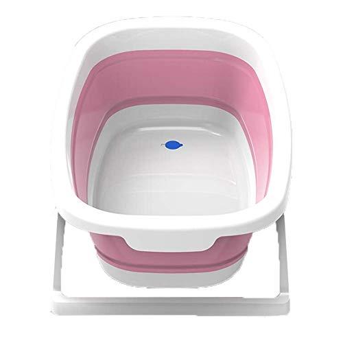 Guotail Plegable bebé bañera-portátil Infantil no Slip Ducha Lavabo de Gran tamaño recién Nacido bañera/Asiento Bañeras Bañera,B
