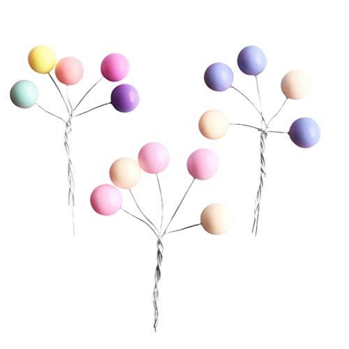 PRETYZOOM - Decoración para tartas de cumpleaños (3 unidades), diseño Kawaii, multicolor