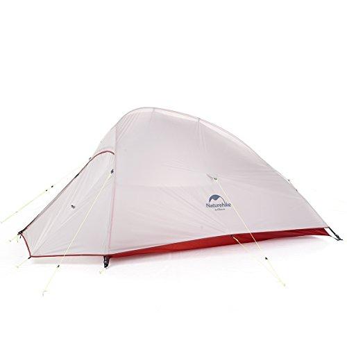 Naturehike CloudUp 2 Tente extérieure de Camping Ultra légère Double Couche 20D Double Couche Professionnelle en Silicone NH17T001-T