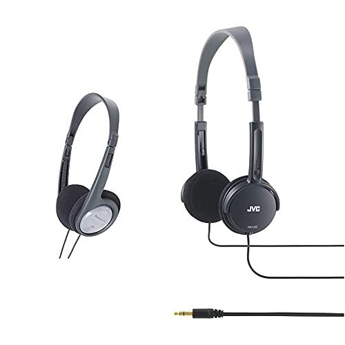 Panasonic RP-HT090E-H - Auriculares Diadema Abiertos con Cable + JVC HAL-50-B Auriculares Ultra-Ligeros y Plegables Color Negro