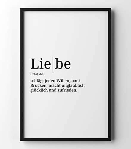 Preisvergleich Produktbild Papierschmiede Definition: Liebe / DIN A4 / Poster mit Worterklärungen wie im Duden für Deine Wanddeko / Kunstdruck für den Bilderrahmen