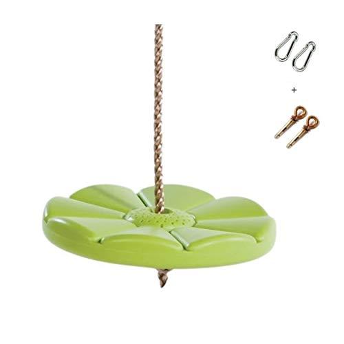 Oscilación ajustable Columpios adultos for niños Columpios Peso 200 kg Adecuado for interiores y exteriores Columpio Silla for niños Juguetes Verde Columpio plegable ( Color : Green-C )