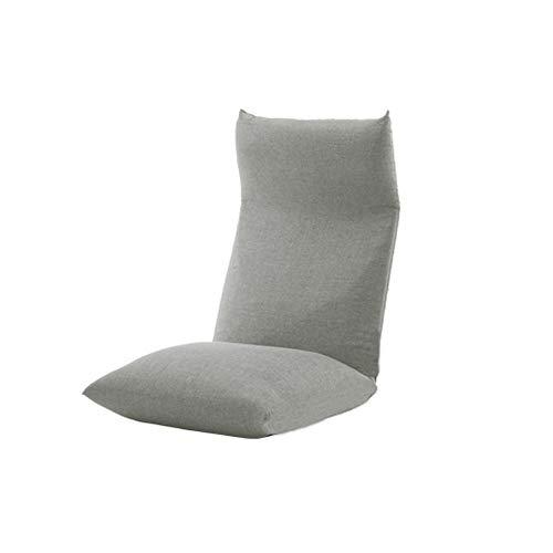 LI Ming Shop Fauteuil Simple Balcon Balcon Tatami Salon Chambre Chaise Pliante Dossier 14 Section Réglable (Color : Gray51x73.5x75cm)