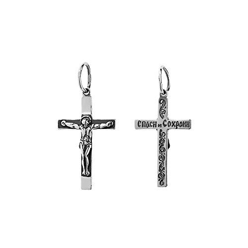 NKlaus 925er Sterlingsilber Silber Kruzifix Kreuz Anhänger Orthodox russisch 6234 Taufe