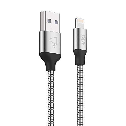 Cabo Apple Lightning, Conector em alumínio, para sincronização / recarga, 1 M, Elg, INX810SL, Prata