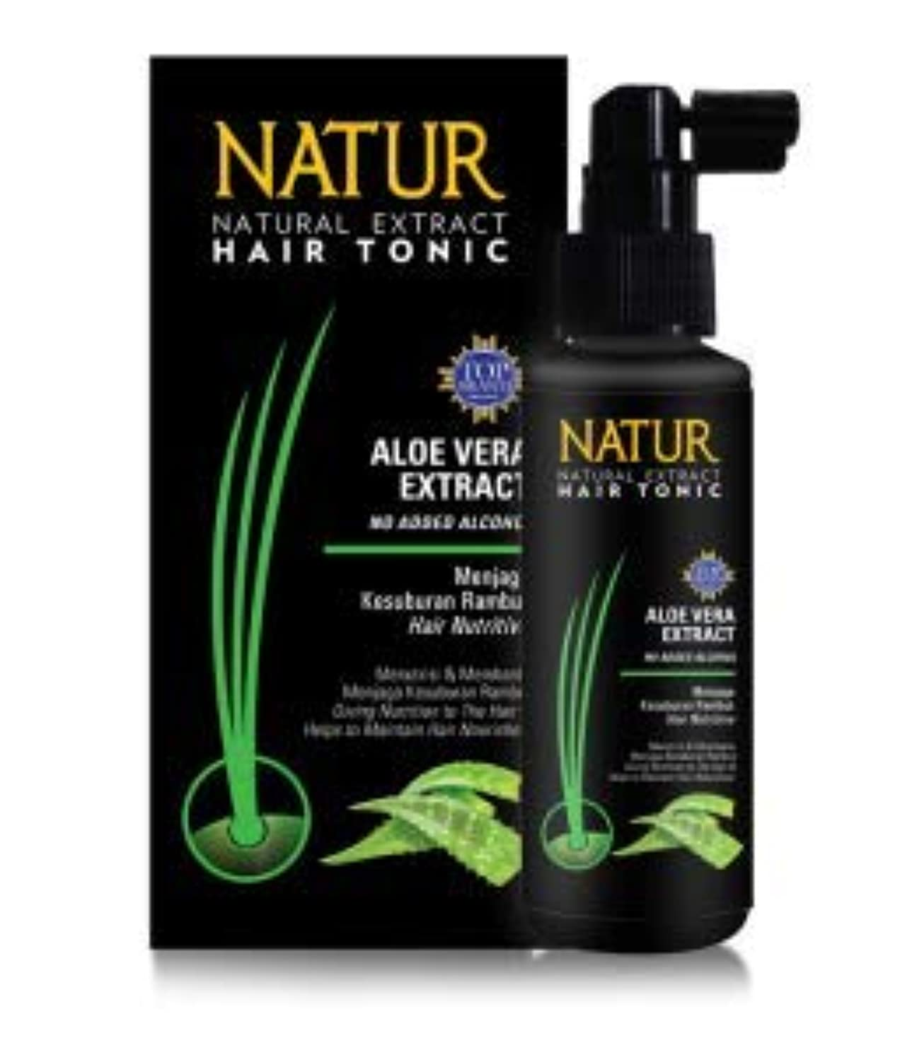 アブストラクトハーブリストNATUR ナトゥール 天然植物エキス配合 Hair Tonic ハーバルヘアトニック 90ml Aloe vera アロエベラ [海外直商品]