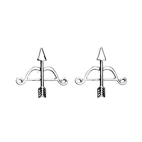 Sportybella Archery Earrings- Girls Bow and Arrow Charm Stud Earrings, Archery Jewelry, for Women, Teens and Girls